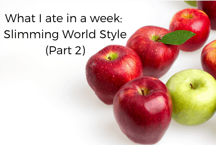What I ate in a week: Slimming World Style (Part 2)