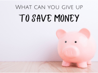 What can you give up for Lent to save money?