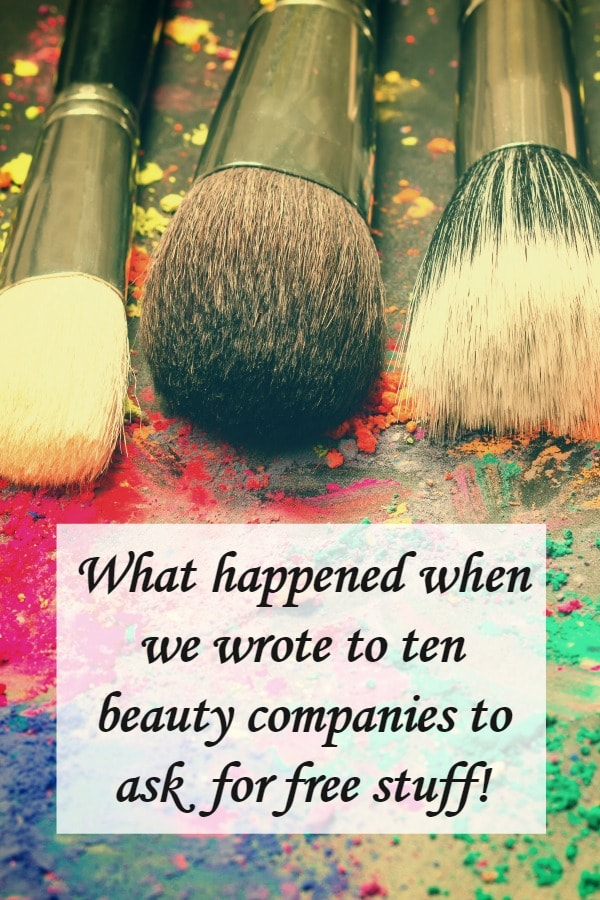 What happened when we wrote to ten beauty companies to ask for free stuff!