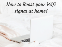 How to boost your wifi signal at home....