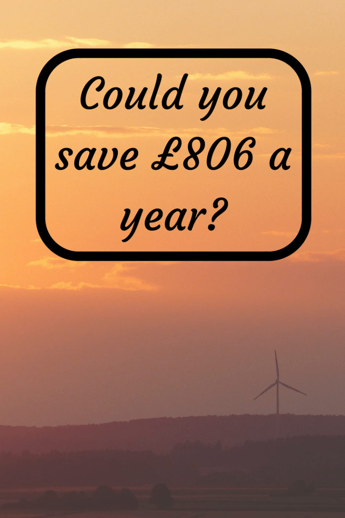Could you save £806 a year on your energy bills?