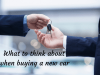What to think about when considering a new family car....