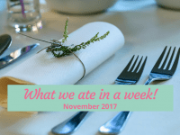 What we ate in a week {November 2017}....