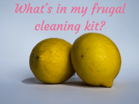 What you need in your Frugal Cleaning Kit....