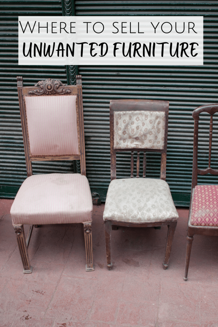 Where to sell your unwanted furniture