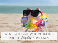 My struggle with blogging about frugality....