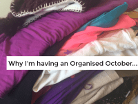 Organised October has arrived....