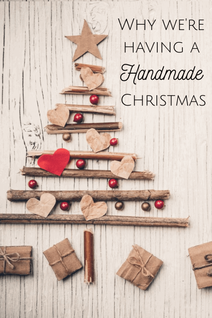 Why we're having a handmade Christmas - and what that really means to us! #slowliving #slowChristmas #handmadeChristmas #frugalChristmas #homemadeChristmas