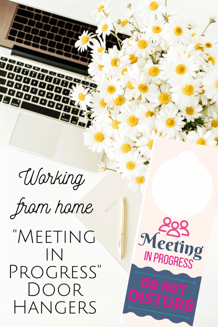 'Meeting in Progress' door hangers