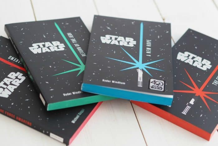 a set of junior Star Wars novels by Egmont including the 40th Anniversary copy of A New Hope.
