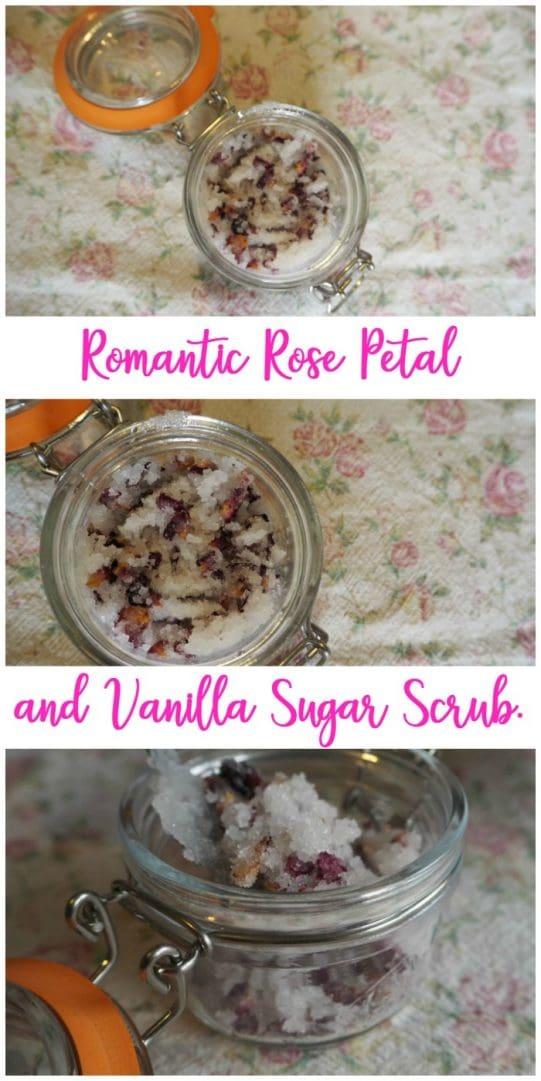 How to make Rose Petal and Vanilla Sugar Scrub....