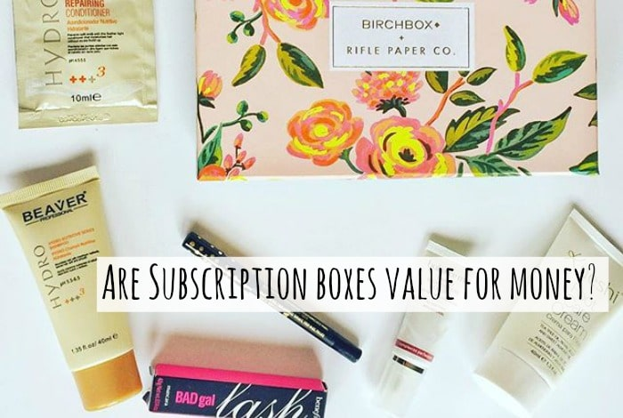 Are subscription boxes value for money or is it a case of them being a waste of money as you would never use half the things you get in them? I think they're a waste but my teenage daughter loves them and buys the Birchbox every months. Here's her review of this month's Birchbox.