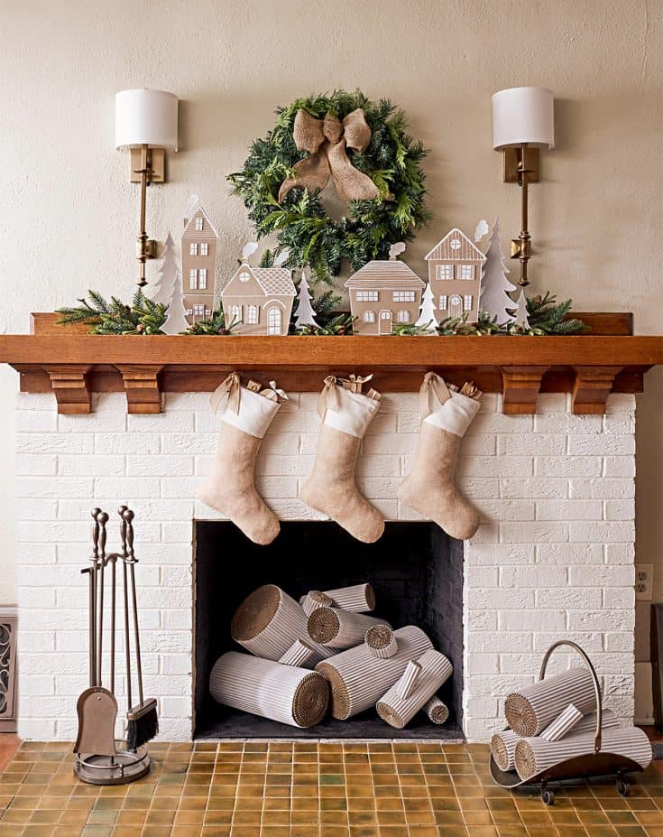 Create a Gorgeous Chipboard Christmas Village