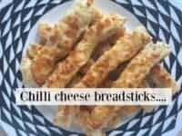 Homemade Chilli Cheese Breadsticks Recipe....