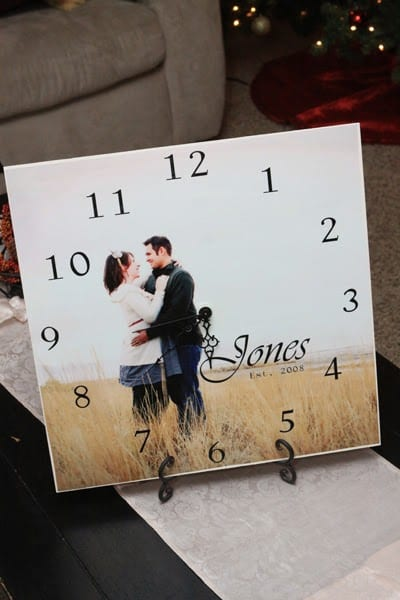 DIY personalised clock gift