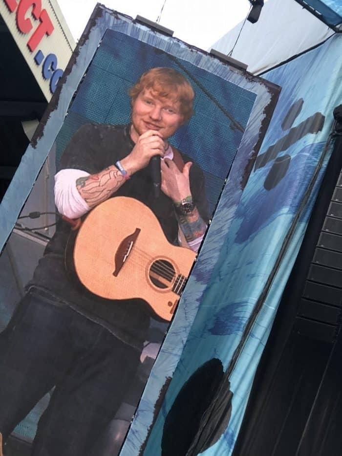 Ed Sheeran at St James Park