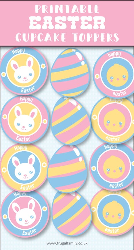 Free Printable - Easter Cupcake Toppers