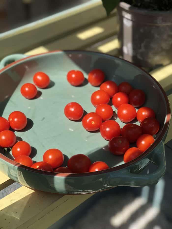 Homemade garlic roasted cherry tomatoes