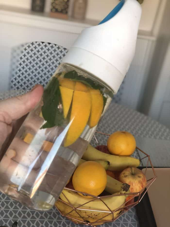 Homemade water and mint