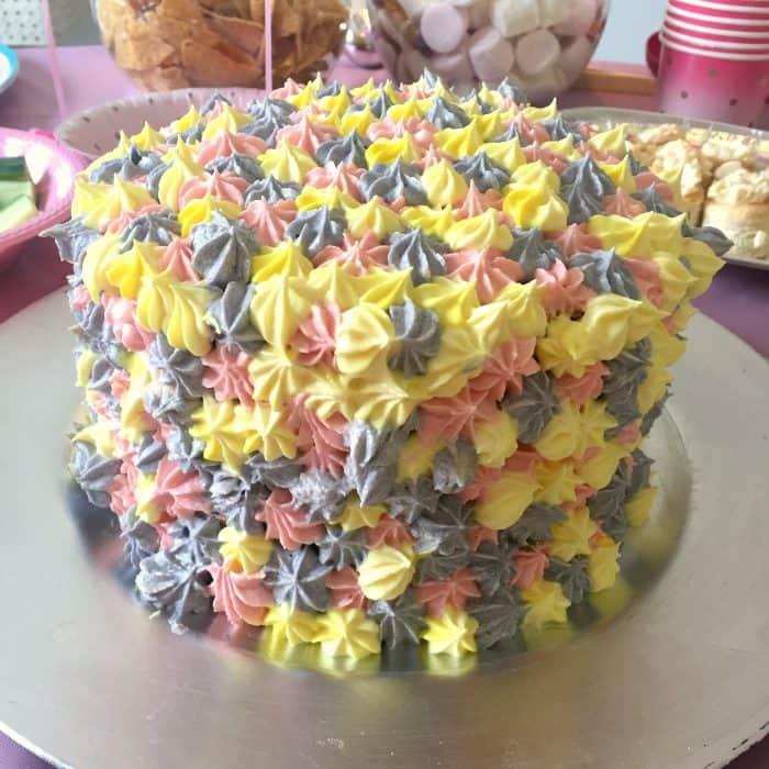 Homemade Rainbow Layer Birthday Cake....
