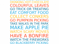 Make a Free Personalised Autumn Family Favourites Poster....