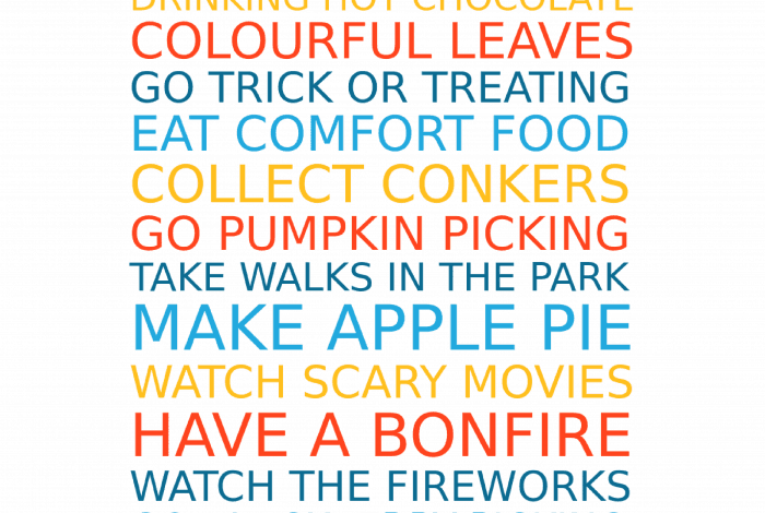 Autumn Favourites free poster maker