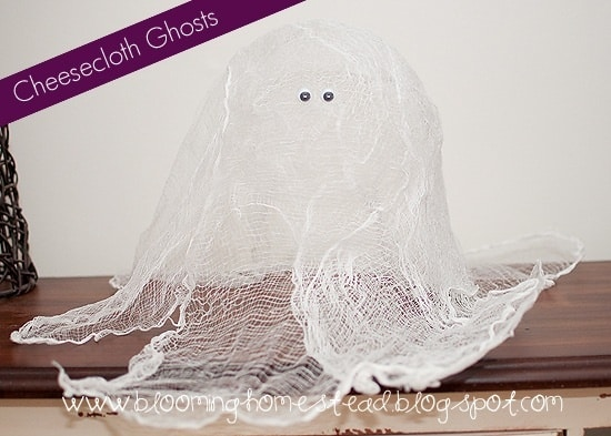 Kids Craft-Cheesecloth Ghosts