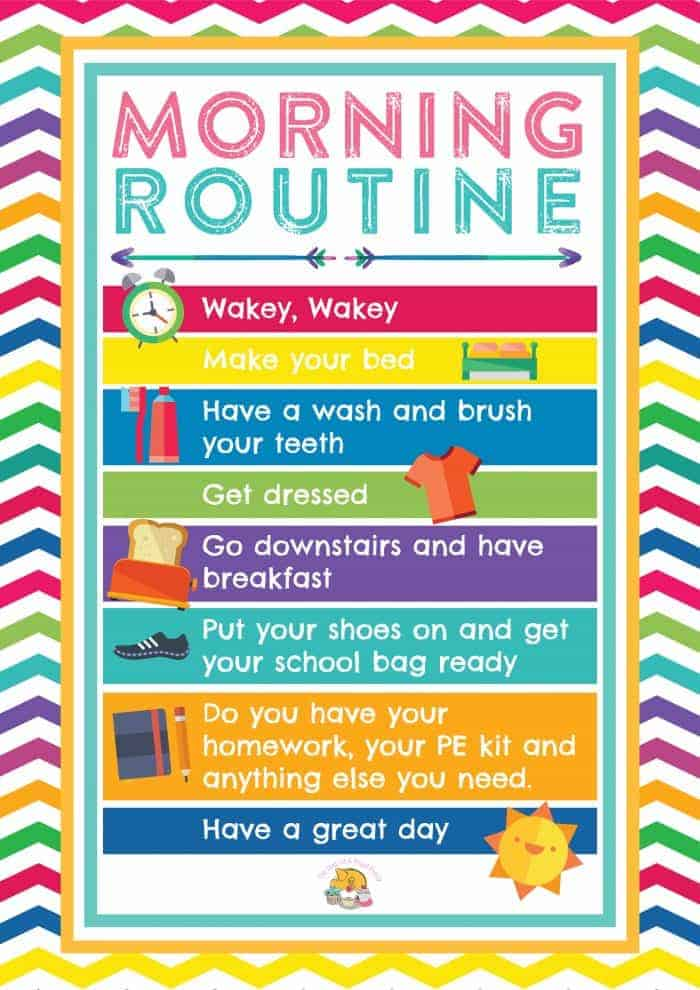 10 Top Tips to make going back to school easier (for both you and the kids. Going back to school is never easy after a long break so here's some tips on how to make it as easy as possible. Includes a brilliant morning routine printable to help your children get ready independently.