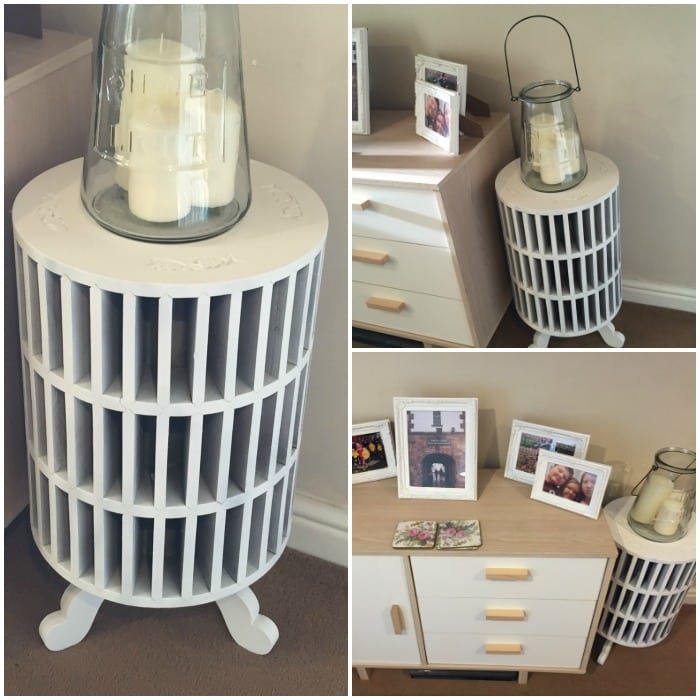 How I upcycled my odd little side table....