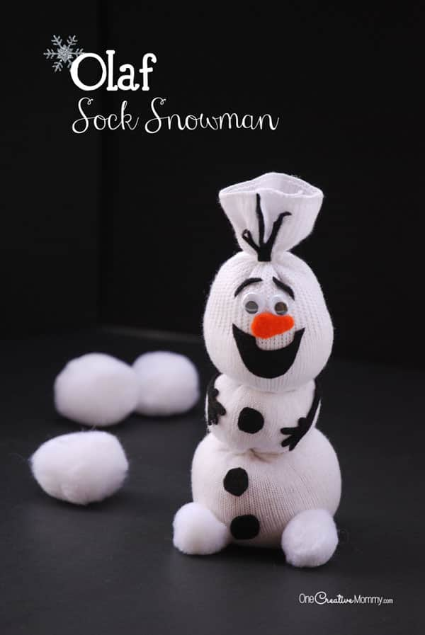 Olaf Sock Snowman Tutorial