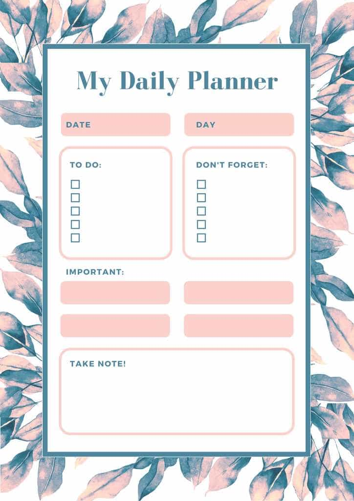 Be Happy Today - Free Printable Daily Planner