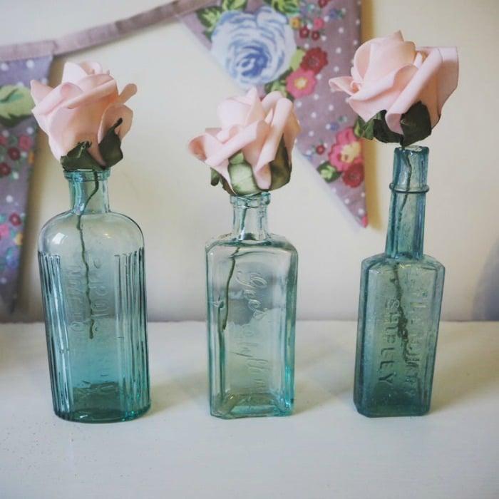 reclaimed glass bottles