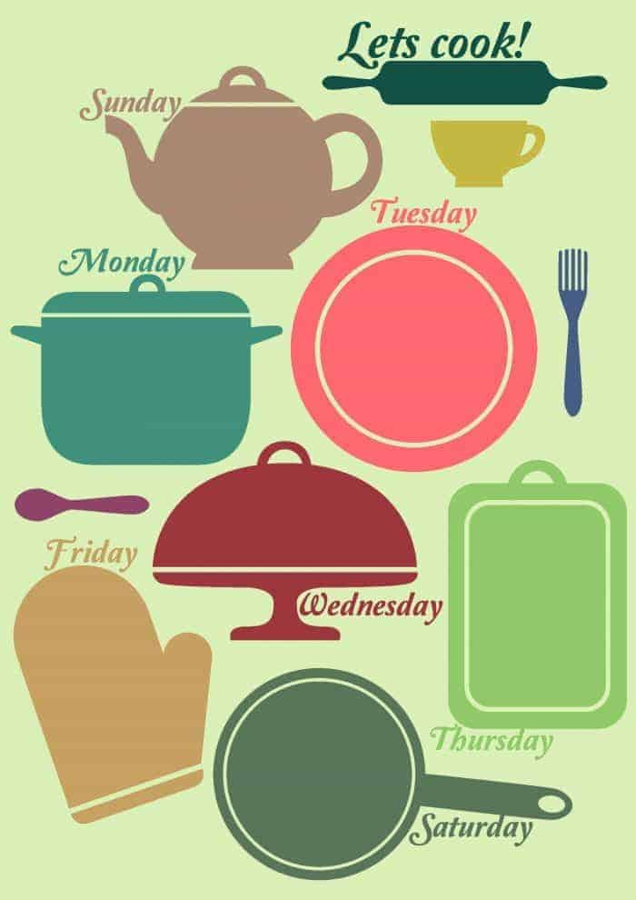 Free printable meal planning templates to help make meal planning easier.