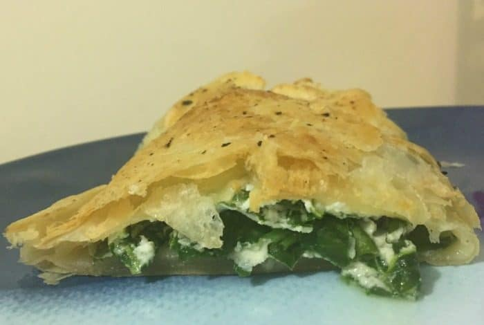 Spinach and ricotta puff pastry