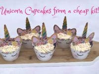 Unicorn cupcakes using a cheap kit from Amazon - success or fail?
