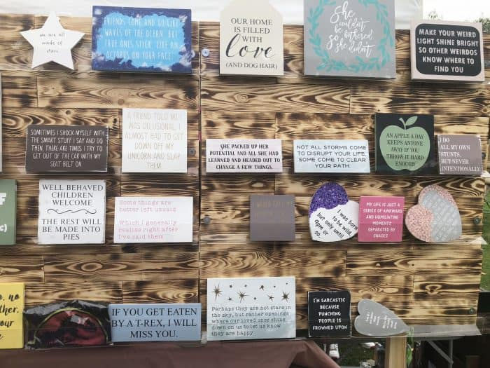 Handmade wooden plaques