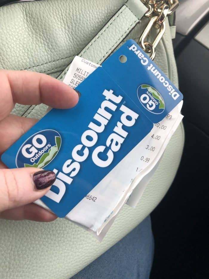 GoOutdoors discount card