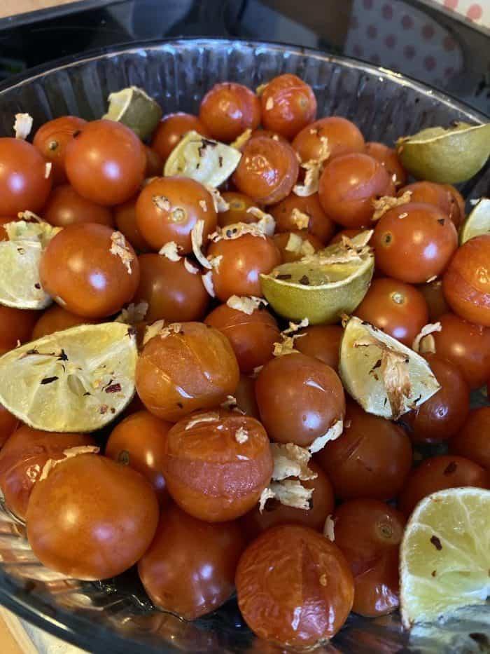 Garlic roasted cherry tomatoes.